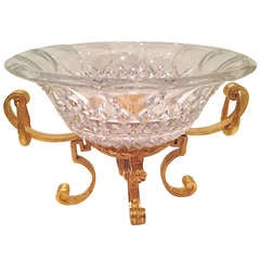 French Crystal and Gilt Bronze Centerpiece, circa 1900