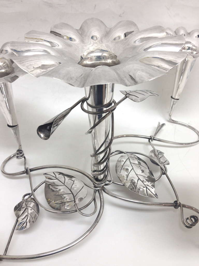 Beautiful Chinese Sterling Callalily Form by Epergne ...
