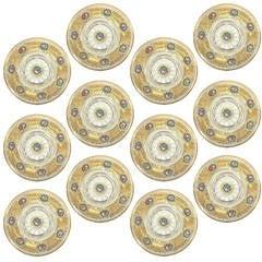 Rare Set of 12 Moser Glass Service Plates, circa 1900