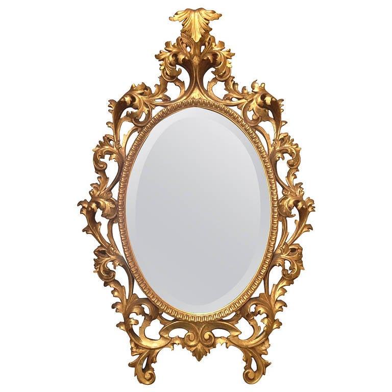 fabulous large carved gilt italian mantel mirror circa