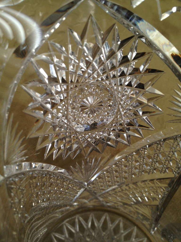American Cut Glass Vase Brilliant Period Pitcher C 1920 At