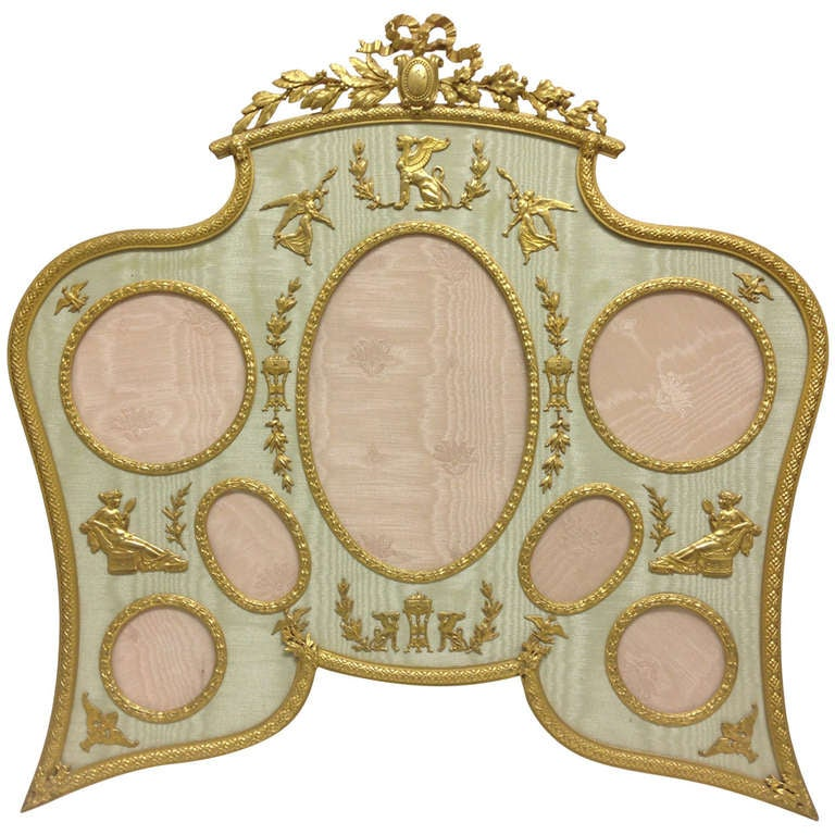 Large And Very Fine French Gilt Bronze Photo Frame Circa