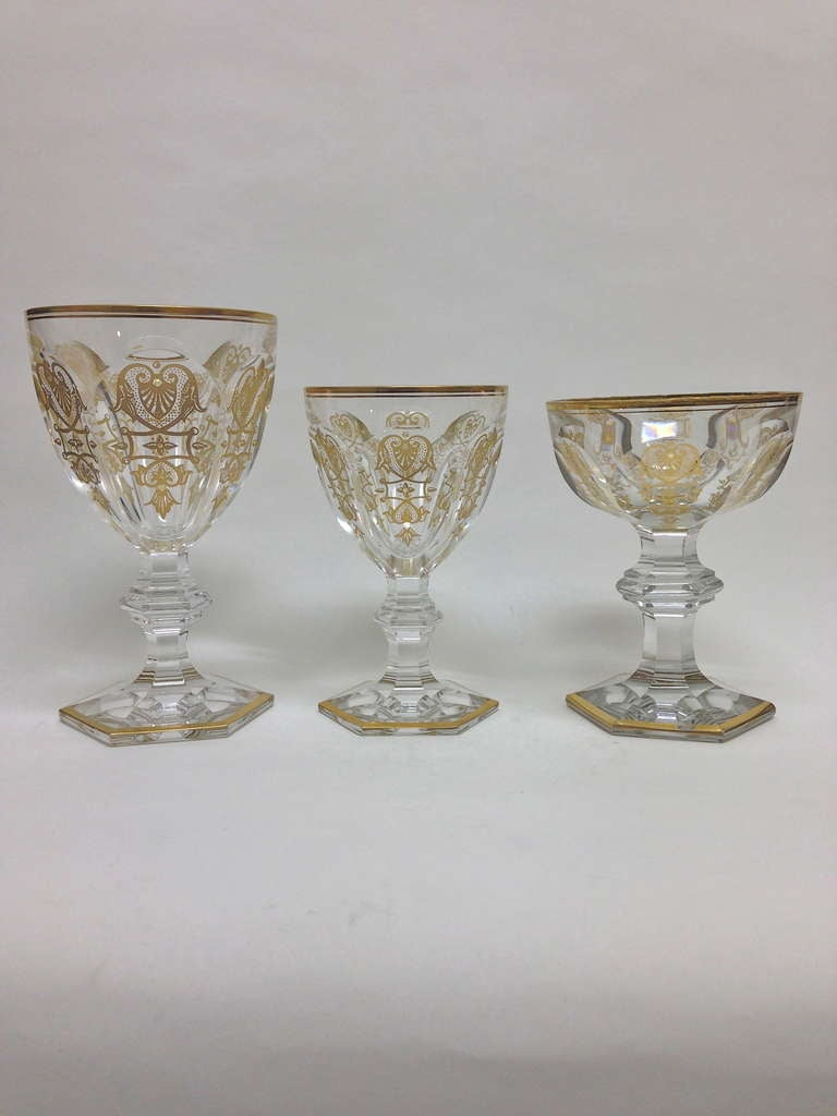 Baccarat Table Suite Of Stemware The Harcourt Empire