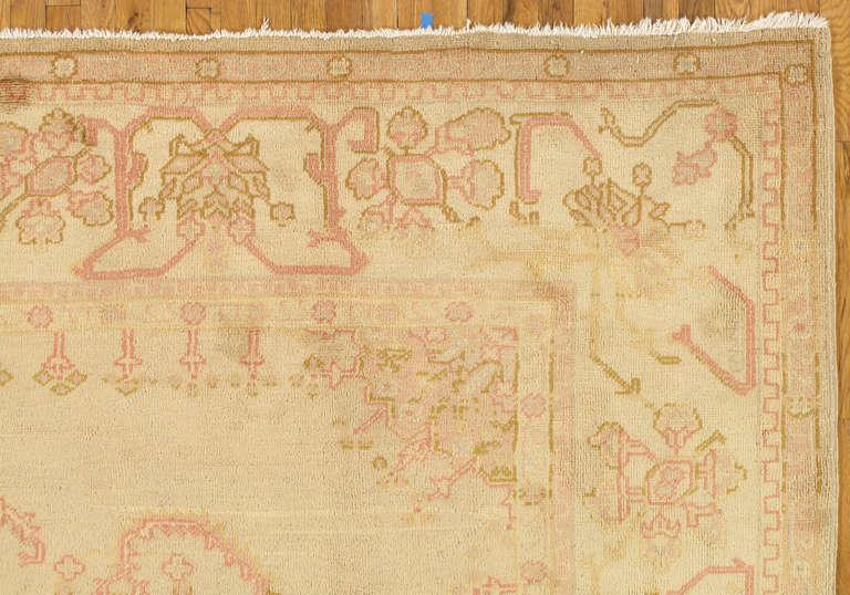 Antique Oushak Carpet Turkish Rugs Handmade Oriental