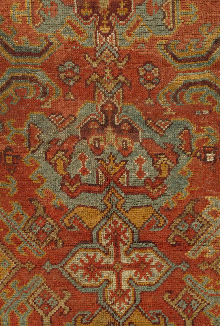 Antique Oushak Carpet Turkey 1880s For Sale At 1stdibs