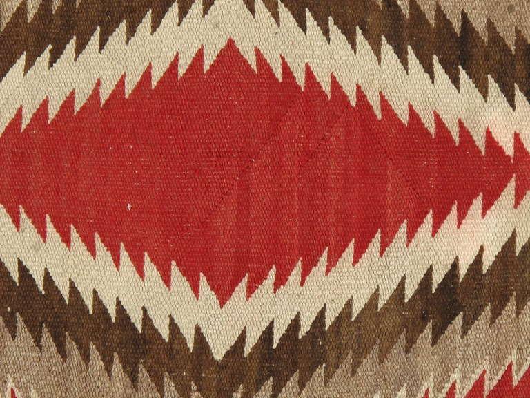 Vintage Navajo Rug In Storm Pattern 2