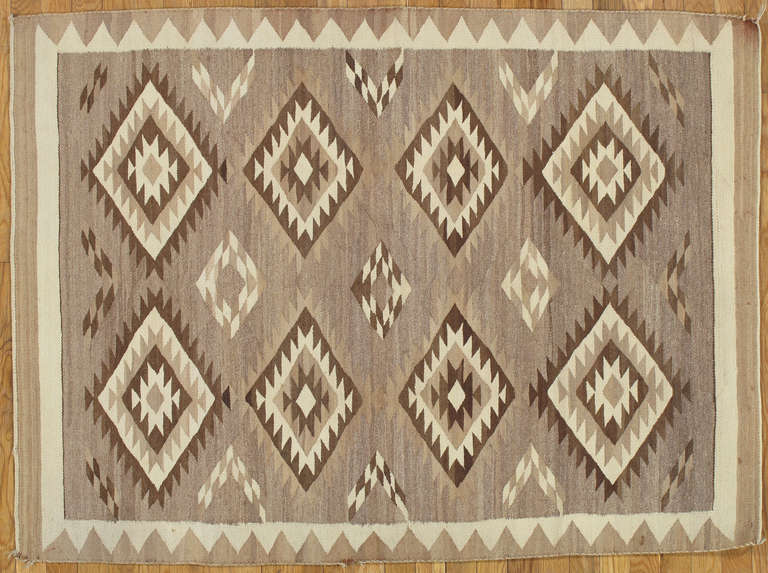 Navajo rugs and blankets are textiles produced by Navajo people of the Four Corners area of the United States. Navajo textiles are highly regarded and have been sought after as trade items for over 150 years. These rugs and blankets are prized by