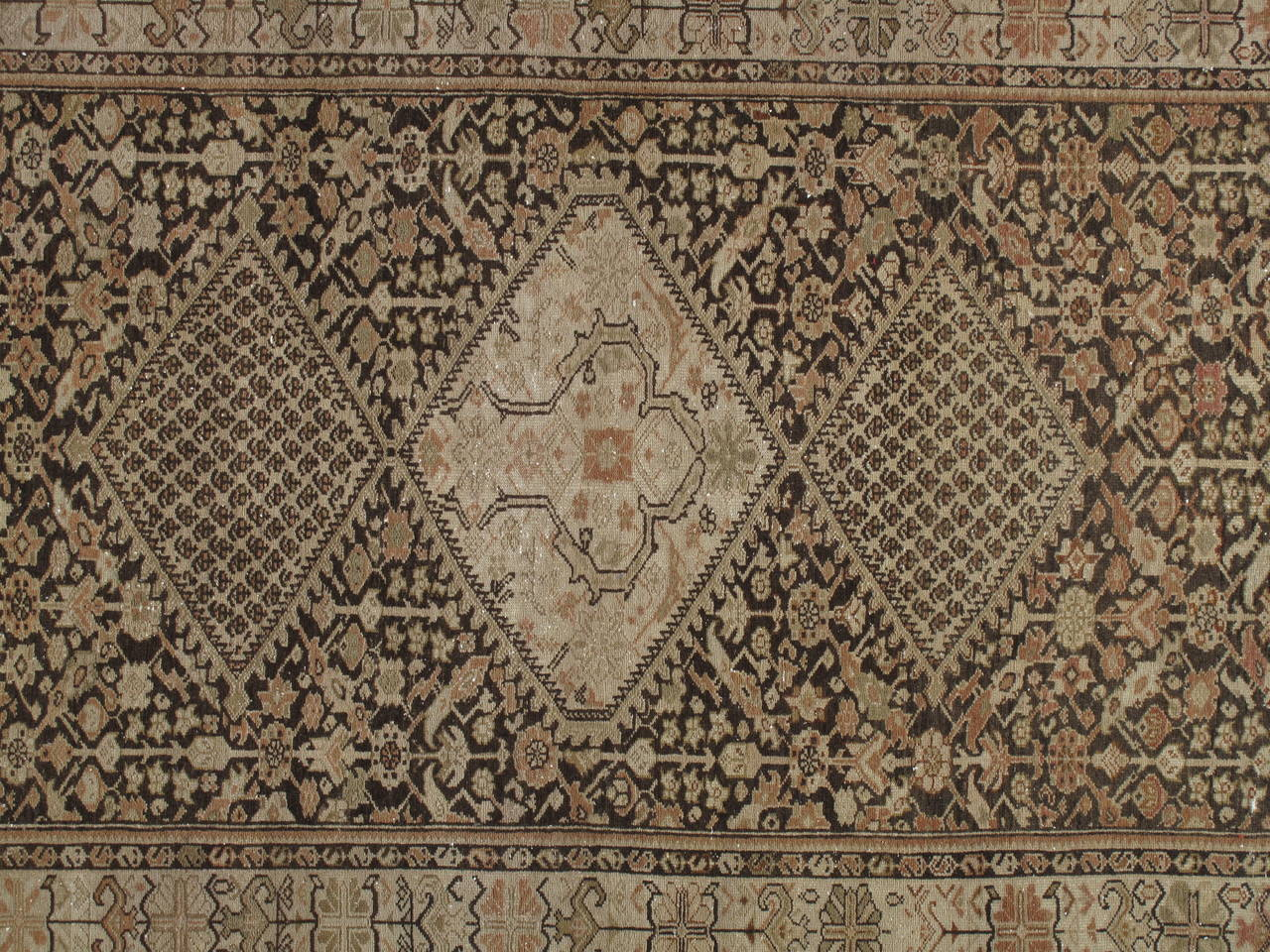 Antique Persian Malayer Carpet Handmade Oriental Rug