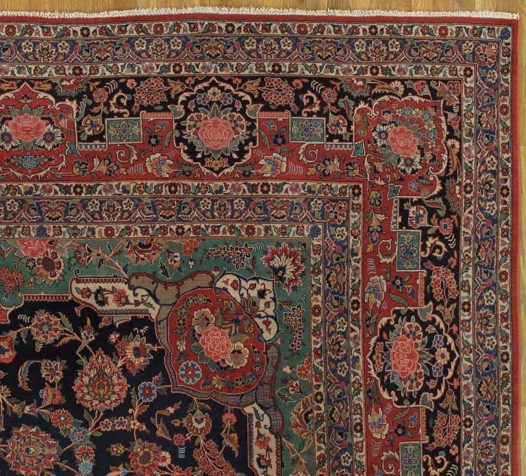 Antique Manchester Kashan Carpet At 1stdibs