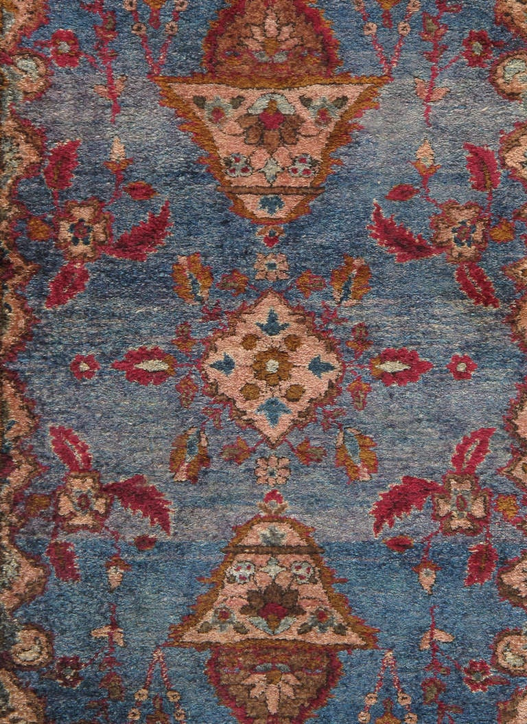 Finely Woven Antique Kashan Rug Circa 1900s Measures 2 X 5 Please
