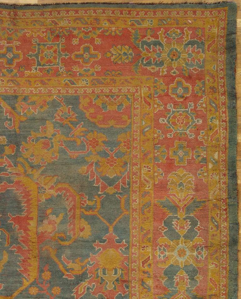 PalaceSize Antique Oushak Carpet Turkish Handmade Oriental Rug