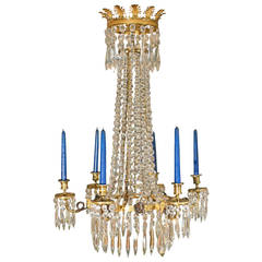Early 19th Century Fine-Cut Glass Chandelier