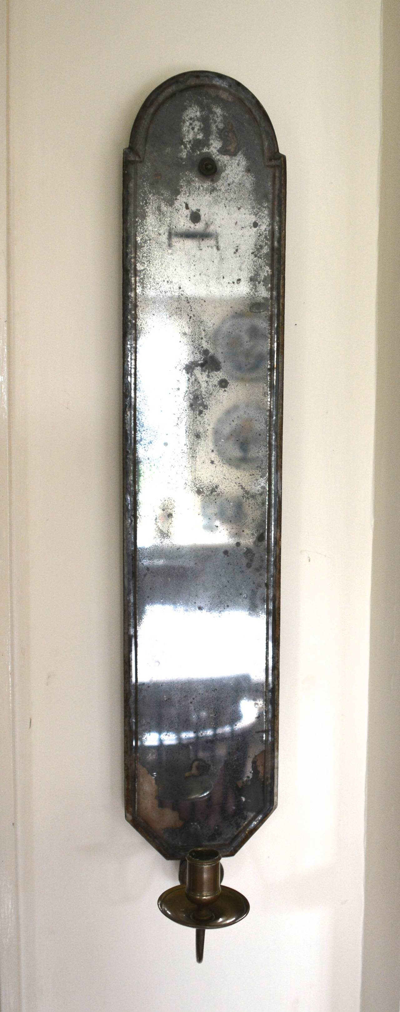 Rare Early 18th Century Mirrored Wall Sconce At 1stdibs