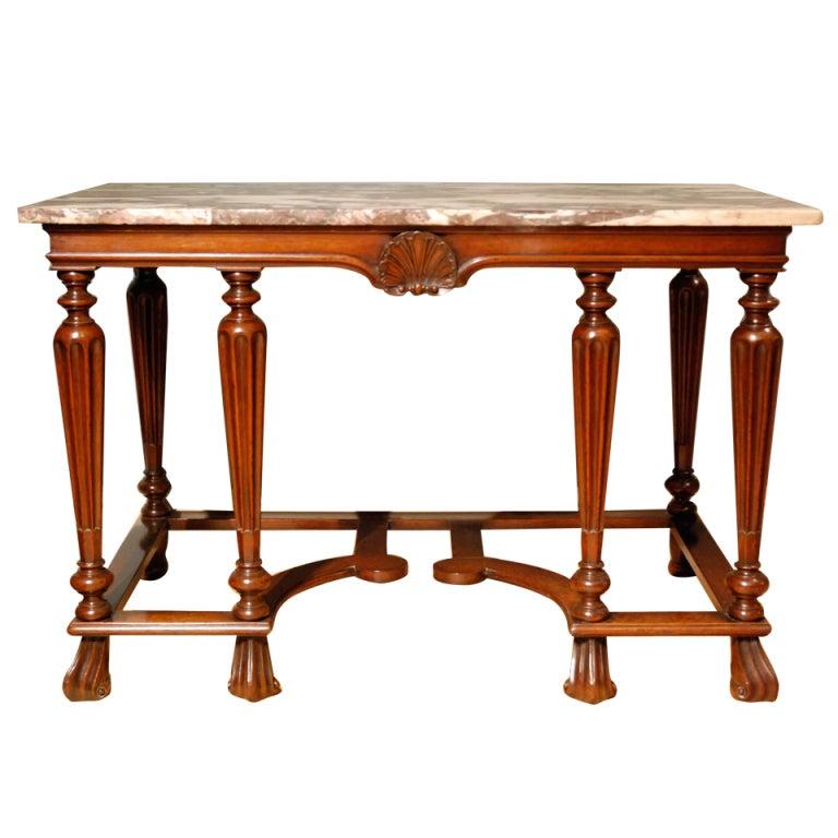Mahogany Marble-Top Side Table, circa 1720