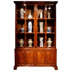 Mahogany Glazed Cabinet, circa 1750