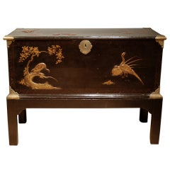 A late 17th century Japanese lacquer trunk.