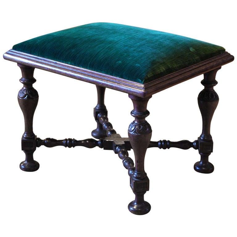 Rare Kentian Mahogany Stool English Circa 1740 For Sale
