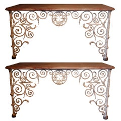 Rare Pair of Early 18th Century Console Tables