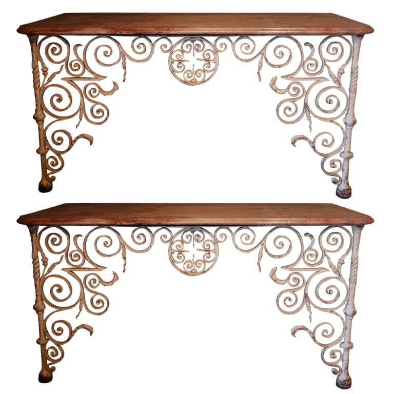 Rare Pair of Early 18th Century Console Tables 1