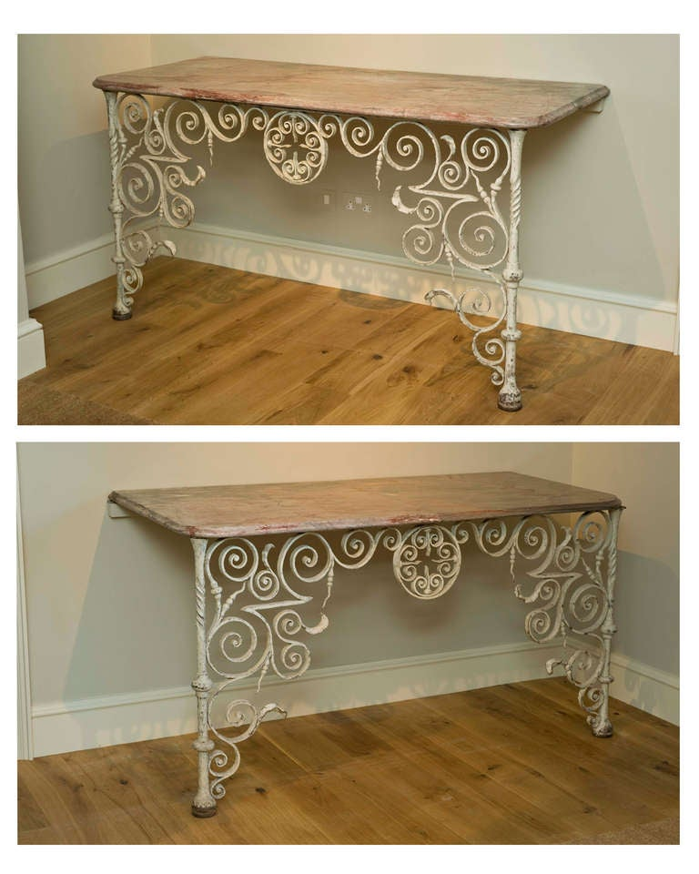 Rare Pair of Early 18th Century Console Tables 3