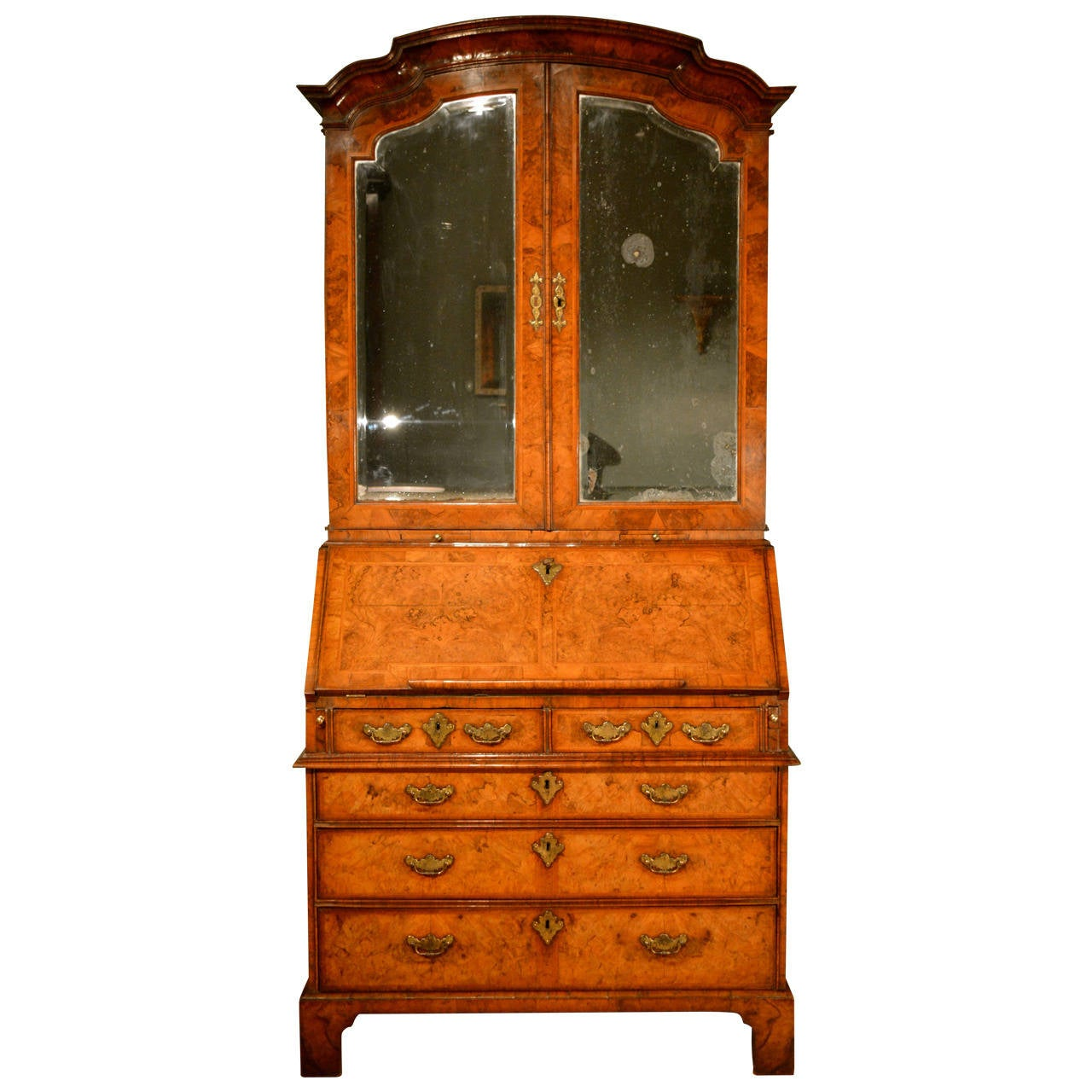 Early 18th Century Walnut Bureau Bookcase, circa 1730 For Sale