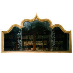 A rare early 18th Century giltwood overmantle. Circa 1725.