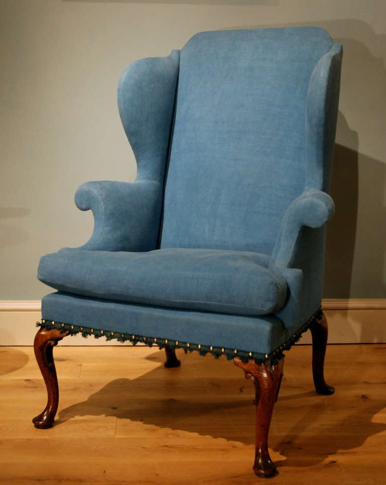 A Cabriole Leg Walnut Wing Chair Circa 1720 At 1stdibs