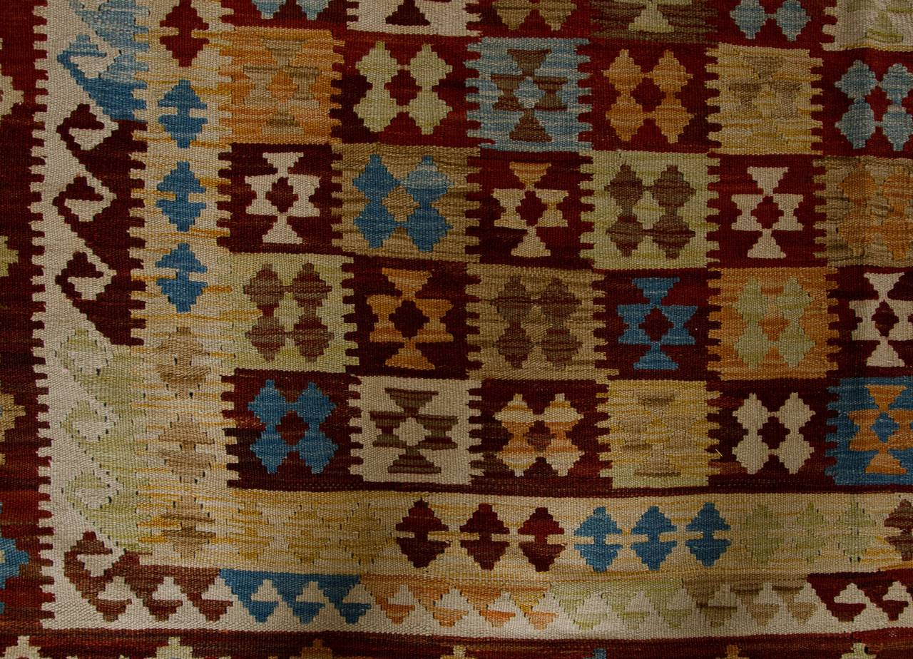 Primitive Afghan Carpet, Kilim Rugs, Modern Rugs from Afghanistan In New Condition For Sale In Hampshire, SO51 8BY