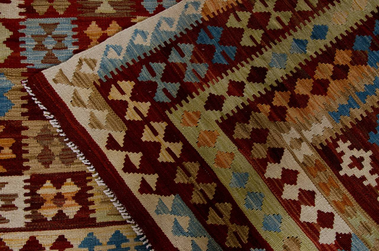 Contemporary Primitive Afghan Carpet, Kilim Rugs, Modern Rugs from Afghanistan For Sale