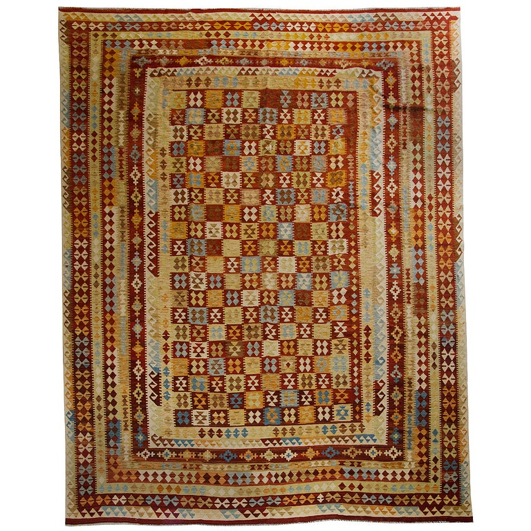 Primitive Afghan Carpet, Kilim Rugs, Modern Rugs from Afghanistan For Sale
