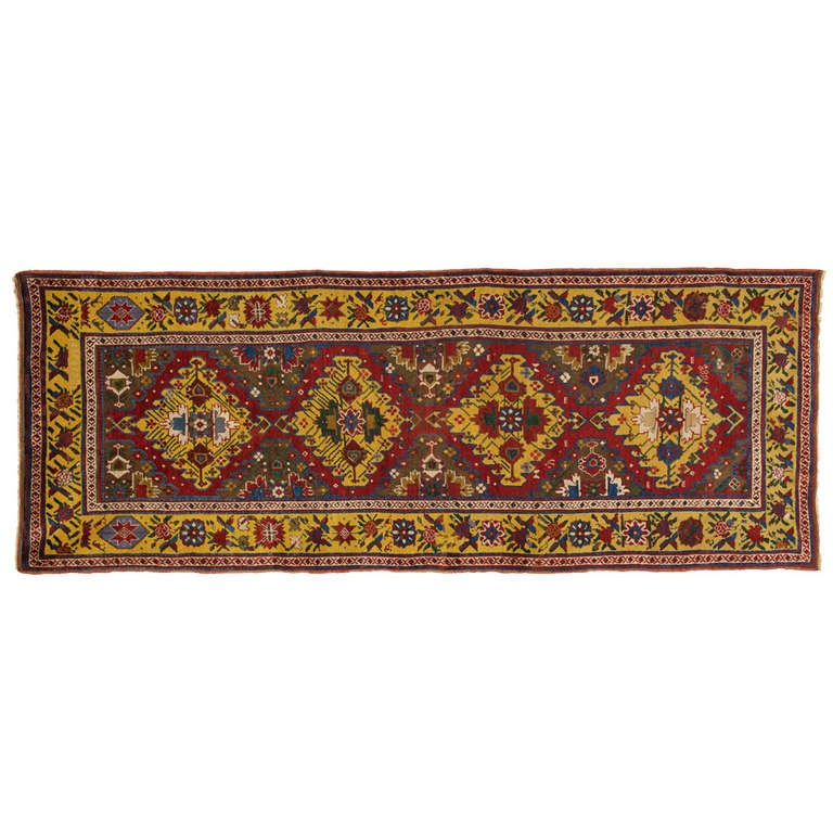 Antique Carpet Runners, Caucasian Runner Rugs from Karabagh 1
