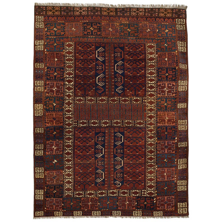 Antique Turkoman Rug, Circa 1890s At 1stdibs