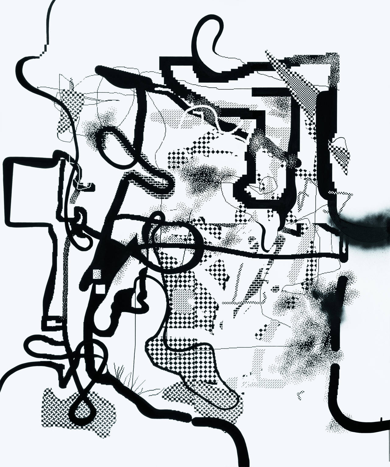 Albert Oehlen Computer Paintings