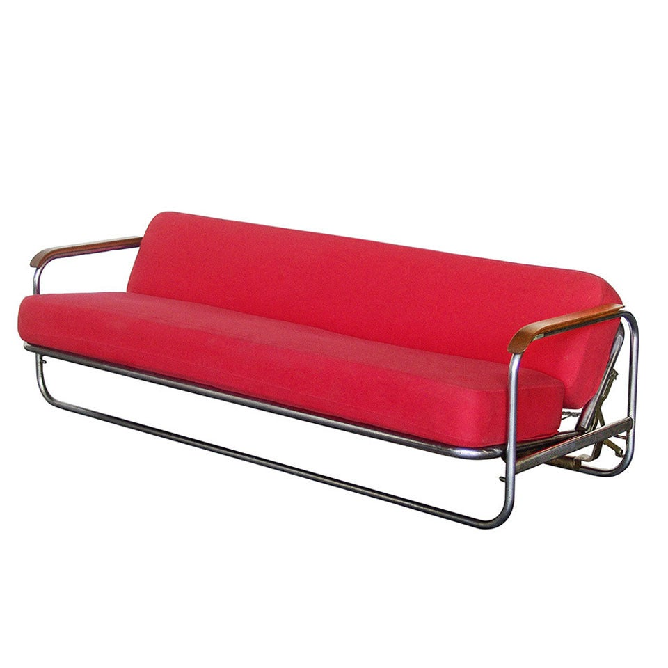 Sofa bed designed by alvar aalto 1939 at 1stdibs for Aalto chaise lounge