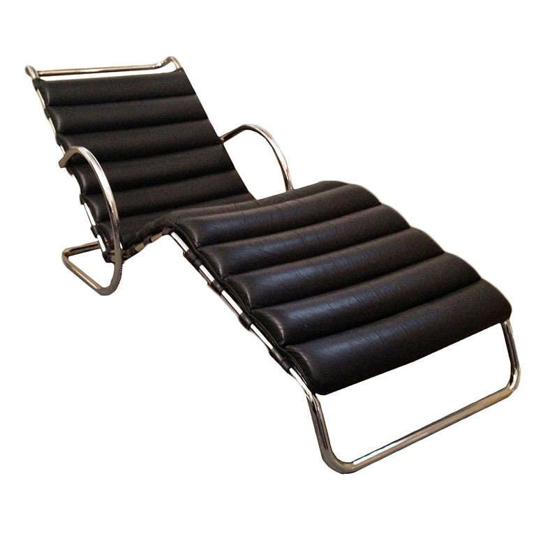 lounge chair by mies van der rohe at 1stdibs. Black Bedroom Furniture Sets. Home Design Ideas