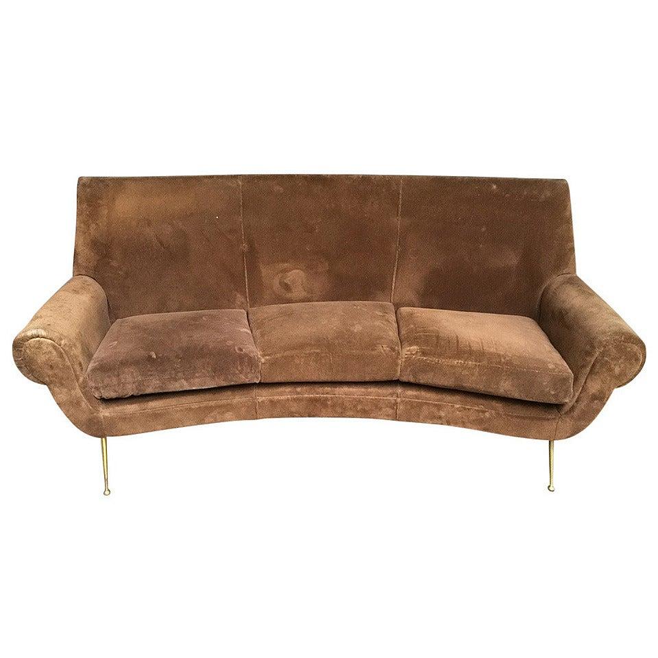 sofa curved design gigi radice at 1stdibs. Black Bedroom Furniture Sets. Home Design Ideas