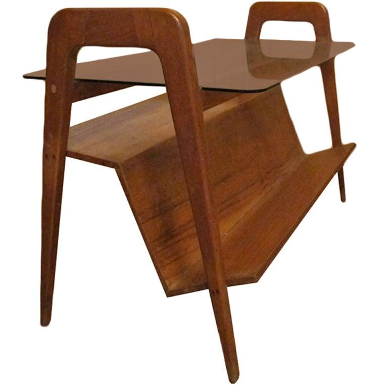 Magazine Stand Designs : Rare coffee table magazine rack design gio ponti at stdibs