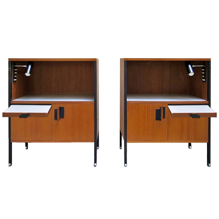 Fabulous Pair of Bedside Tables Designed by  Ico Parisi