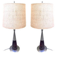 Pair of Table Lamps Designed by Stilnovo