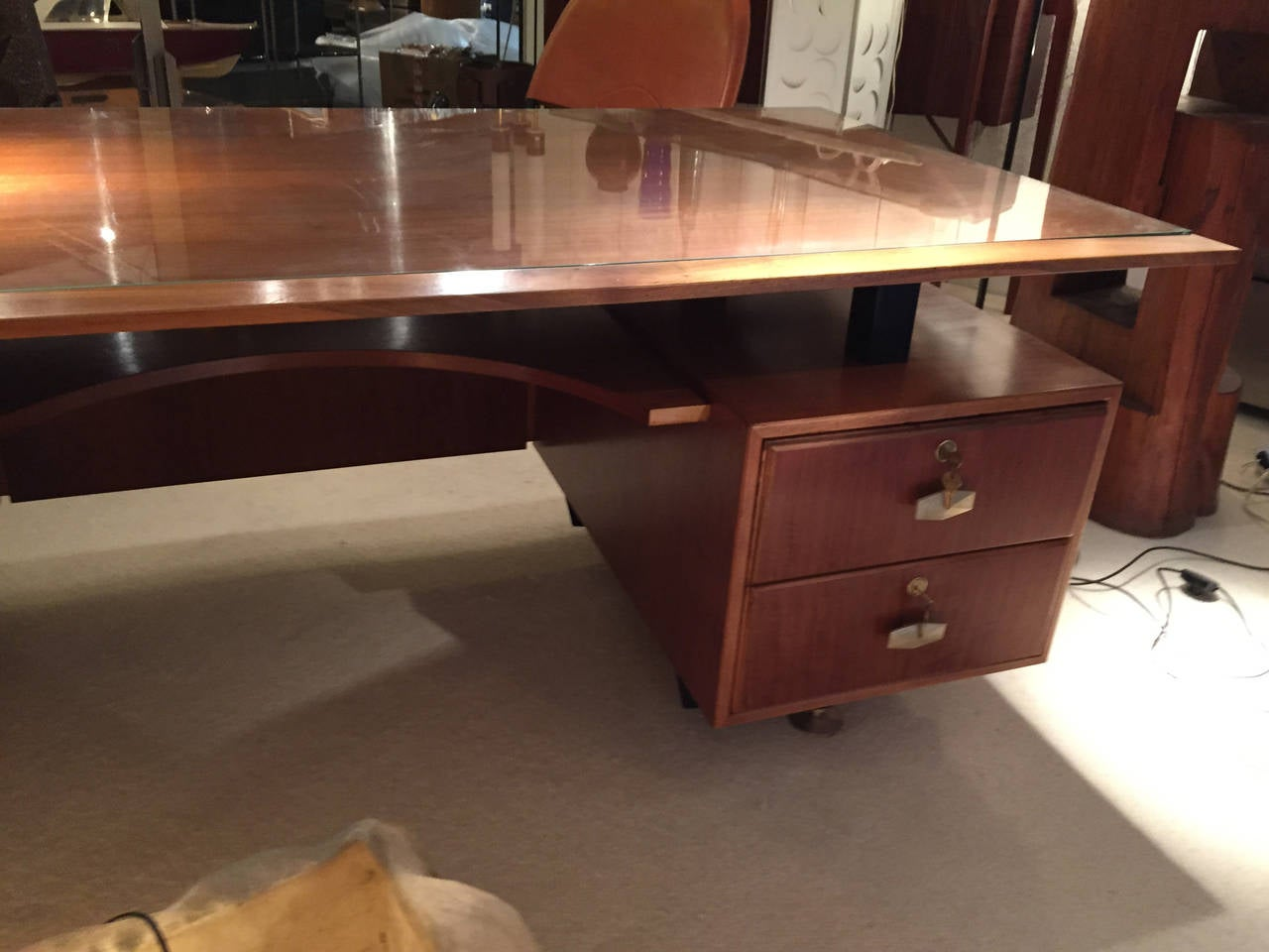Beautiful Desk Designed By Vittorio Rossi 1950 At 1stdibs