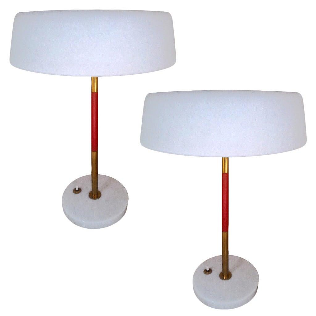141 Gorgeous Desk Lamp Designs: Couple Beautiful Table Lamps, Design Stilux, 1950 At 1stdibs