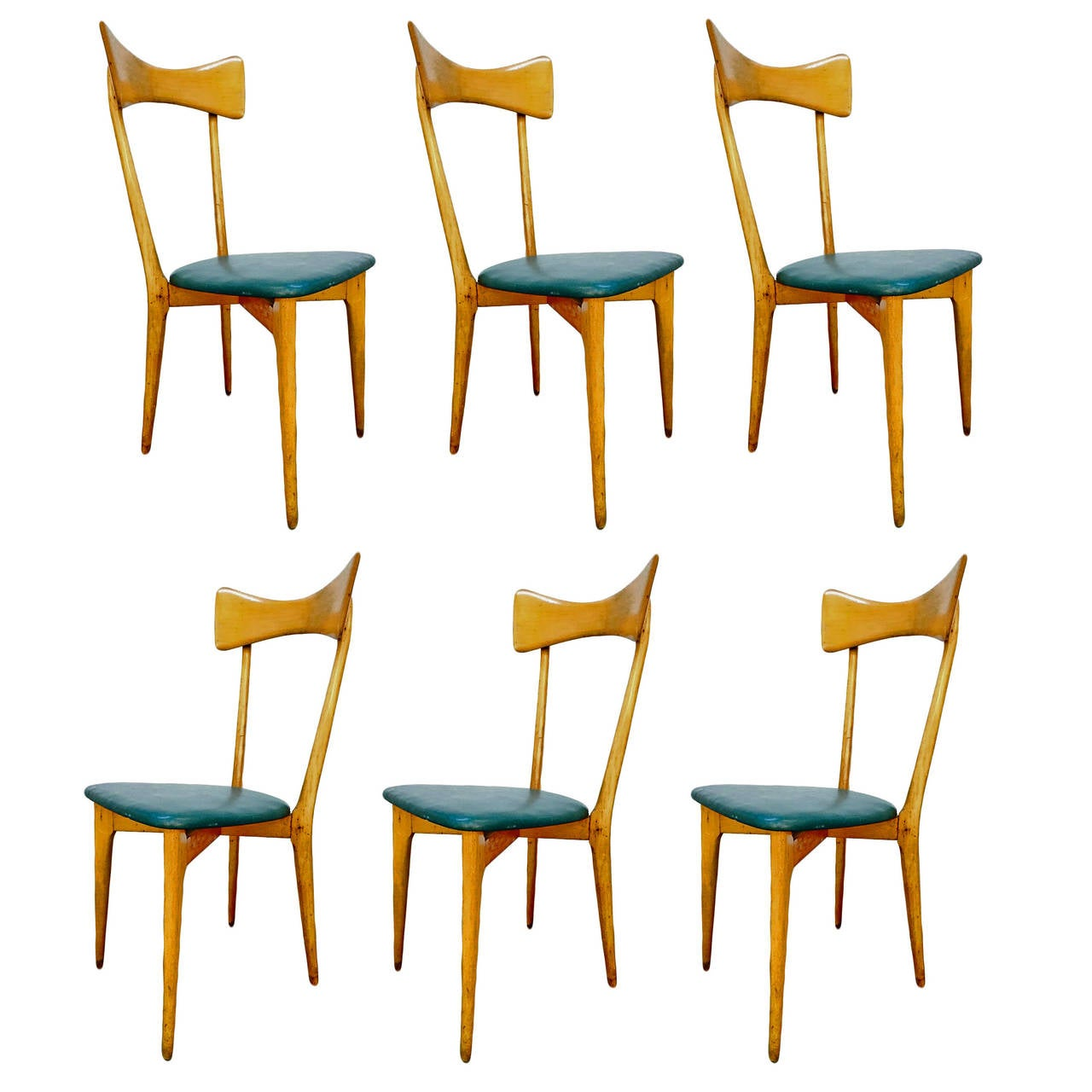 Six Chairs Designed by Ico Parisi, 1950