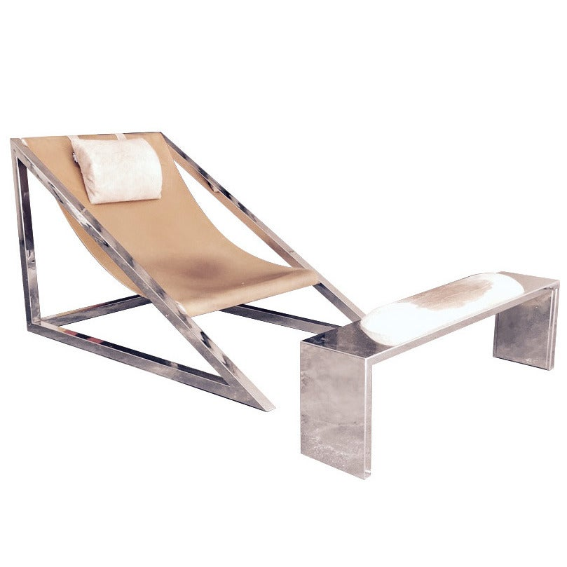 Rare chaise longues design archizoom 1969 at 1stdibs for Chaise longue pony