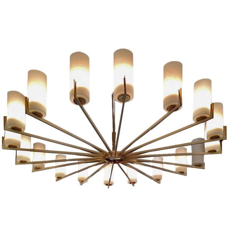 Spectacular Chandelier Attributed to Angelo Lelli at 1stdibs