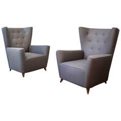 Pair of Lounge Chairs by Paolo Buffa