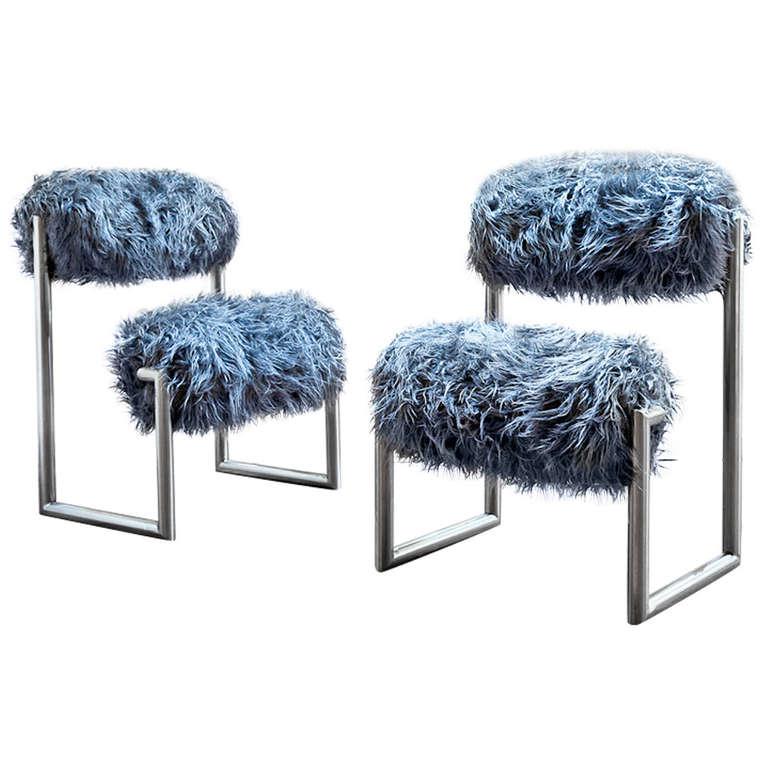 Pair Of Due Pi 249 Chairs By Nanda Vigo At 1stdibs