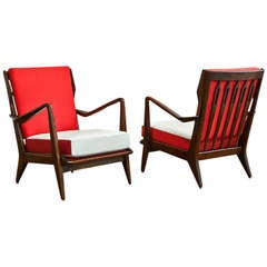 Pair of Model no. 516 Lounge Chairs by Gio Ponti