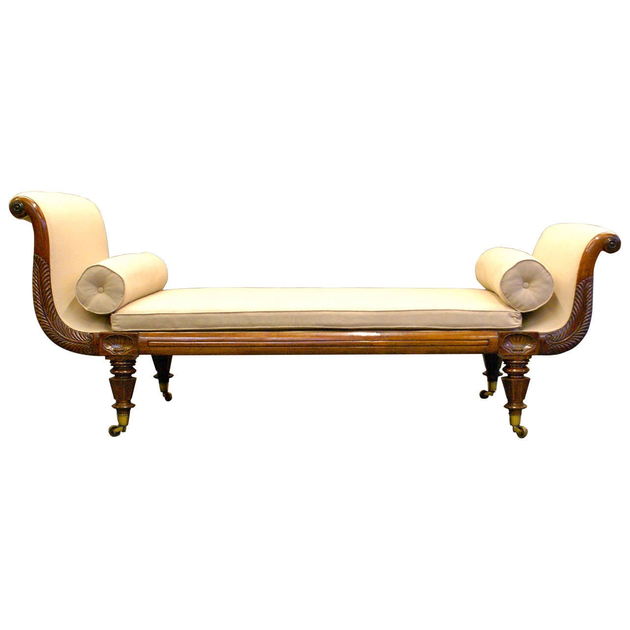 Early victorian rosewood chaise lounge at 1stdibs for Chaise lounge antique victorian