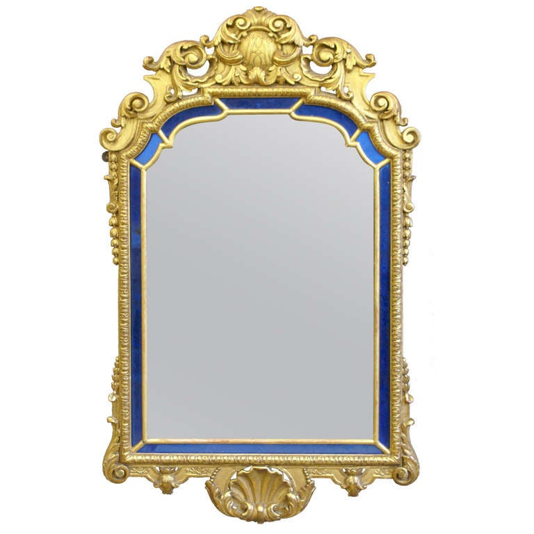 Fine quality carved and gilded wall mirror at 1stdibs for Mirror quality
