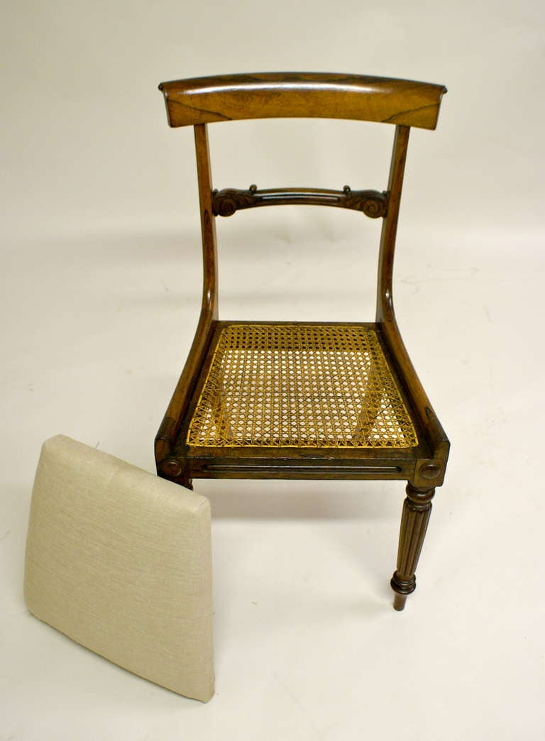 quality set of 6 late regency rosewood dining chairs at 1stdibs